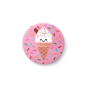 Vanilla Ice Cream Button Badge