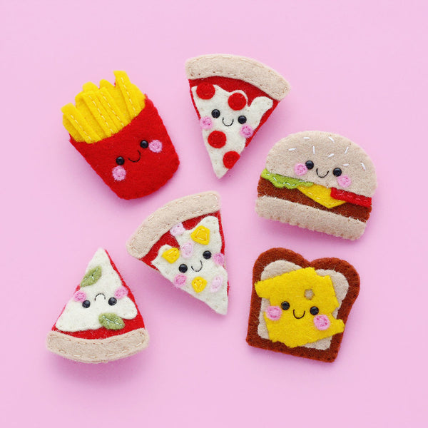 Junk Food Felt Brooches by hannahdoodle