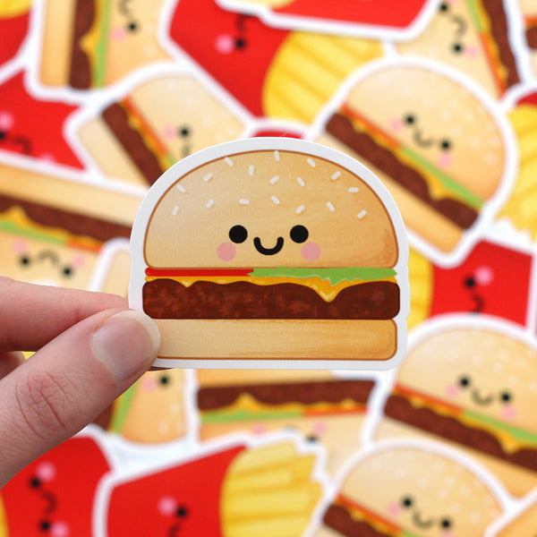 Cute Burger Sticker