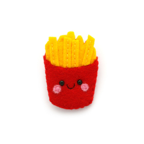 Cute Felt Fries Brooch