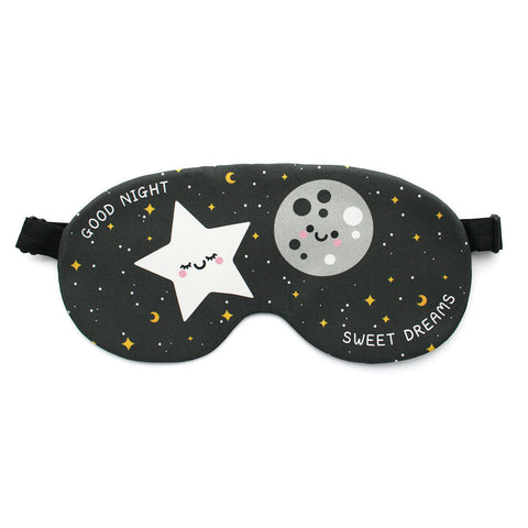 Kawaii moon and stars sleep mask