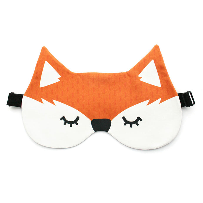 Orange fox sleep mask