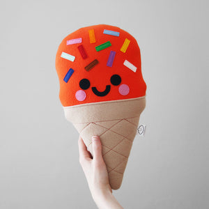 Kawaii Orange Ice Cream Pillow