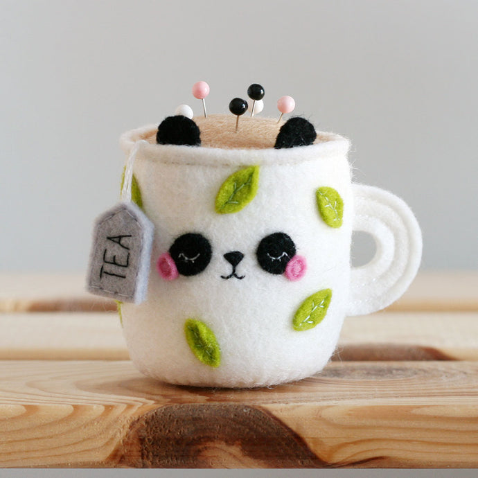 Sleepy Panda Teacup Pincushion - Special Edition