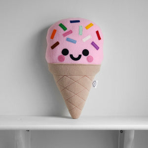 Pastel Pink Ice Cream Plush Pillow