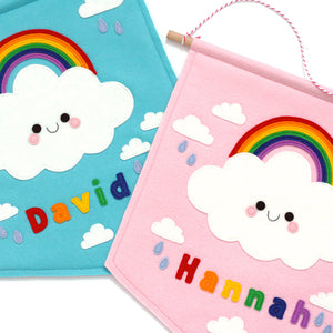 name cloud rainbow banners
