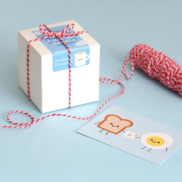 hannahdoodle Pincushion Packaging Box with Twine