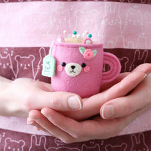 Pink Bear Teacup Pincushion - Special Edition