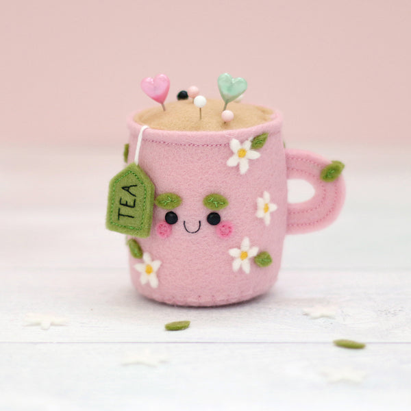 Daisy Teacup Kawaii Pincushion