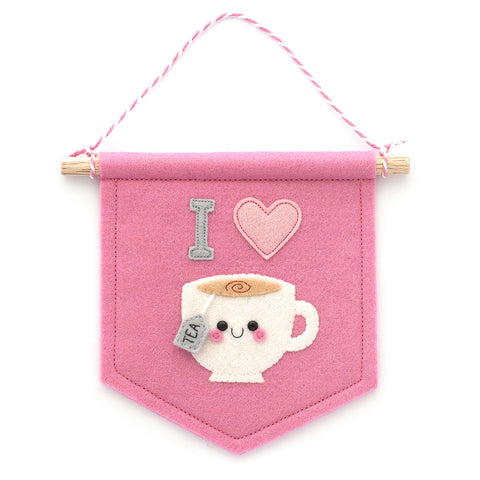 I love tea felt banner by hannahdoodle