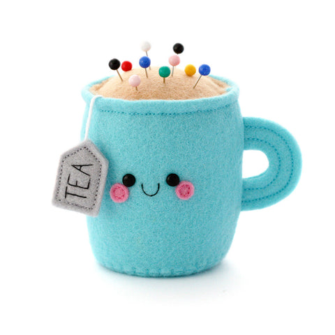 Sky Blue Teacup Pincushion