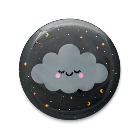 hannahdoodle sleepy starry night sky pocket mirror