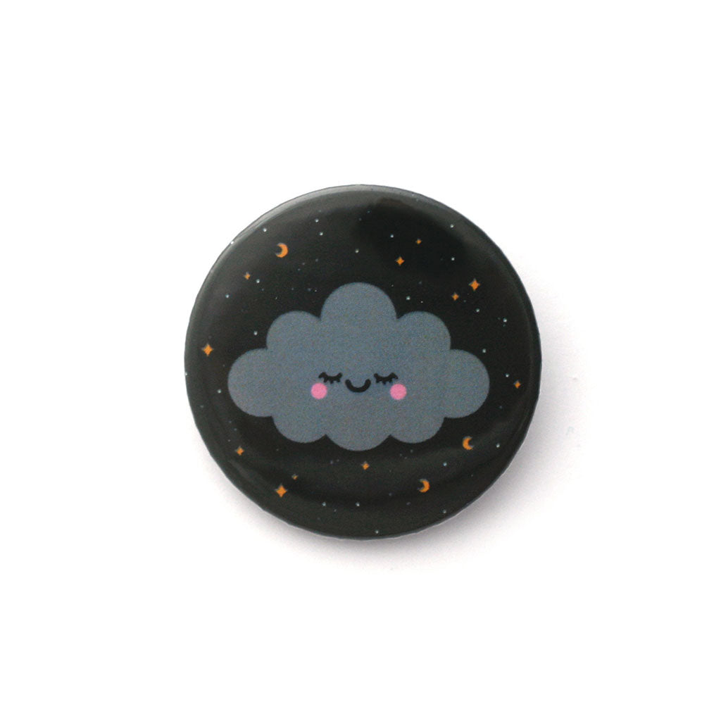Sleepy starry night sky cloud badge