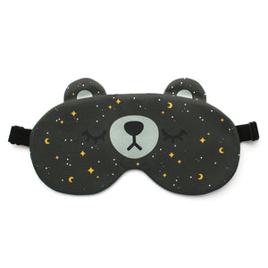 Bear sleep mask with starry sky pattern