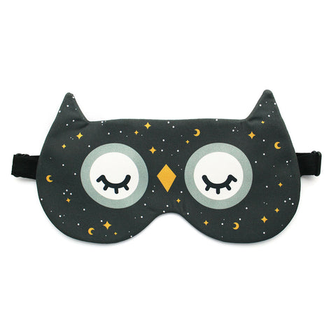 Starry Night Owl Sleep Mask by hannahdoodle
