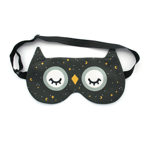 Owl sleep mask with starry night pattern