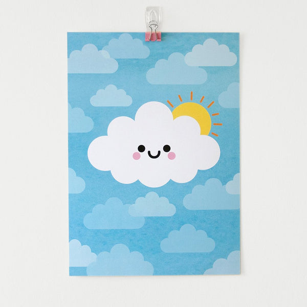 happy sunshine cloud kawaii by hannahdoodle