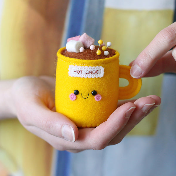 Sunshine Yellow Hot Chocolate Pincushion