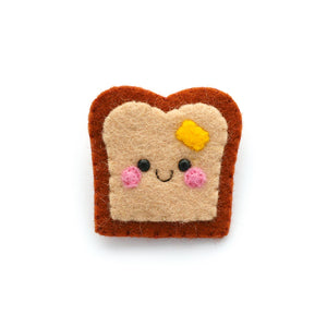 Buttered Toast Felt Brooch