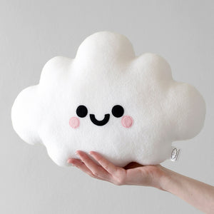 White Cloud Plush Pillow by hannahdoodle