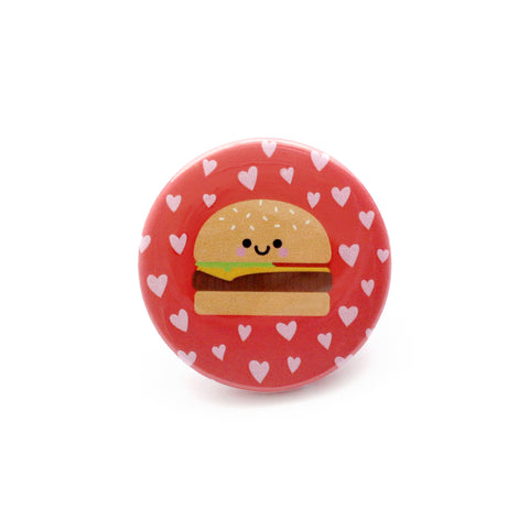 Burger Button Badge