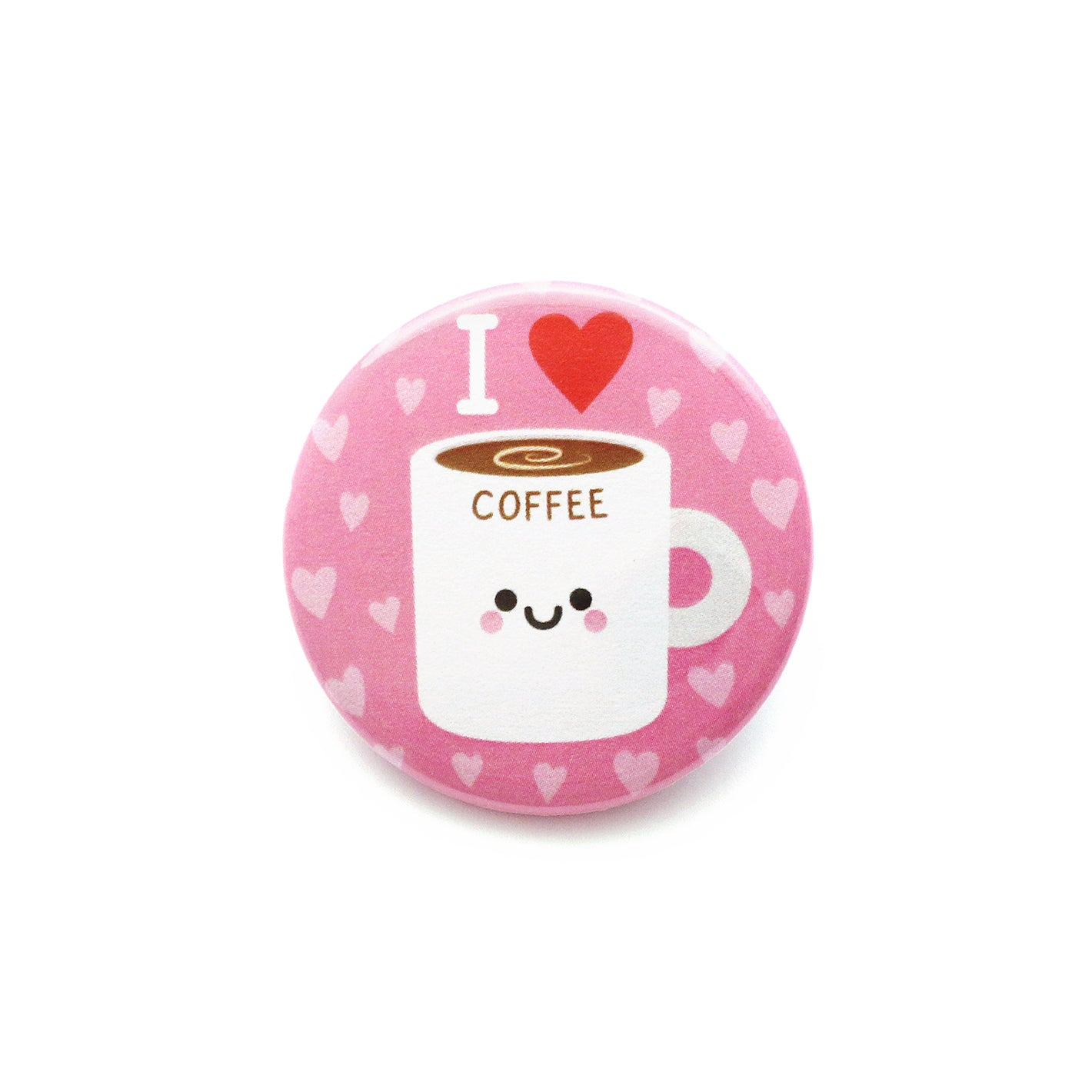 Coffee kawaii button badge
