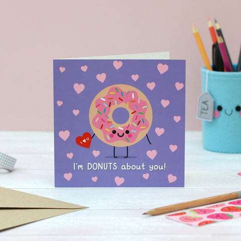Donut Cute Anniversary Card