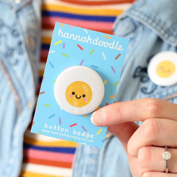 Fried Egg Button Badge