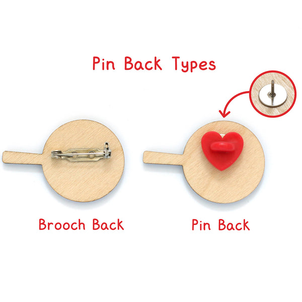 Pin back Types for Frying Egg Pan Brooch