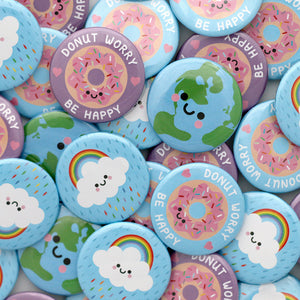 Blue Donut Worry Badge