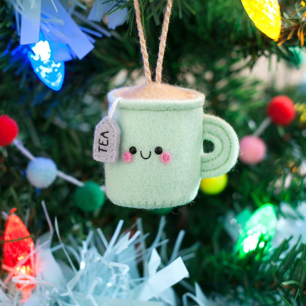 kawaii tea christmas gift ornament