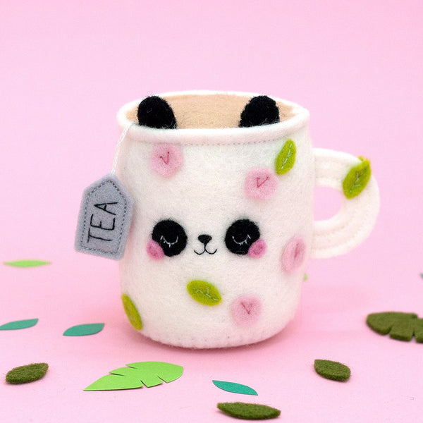 floral panda pincushion by hannahdoodle
