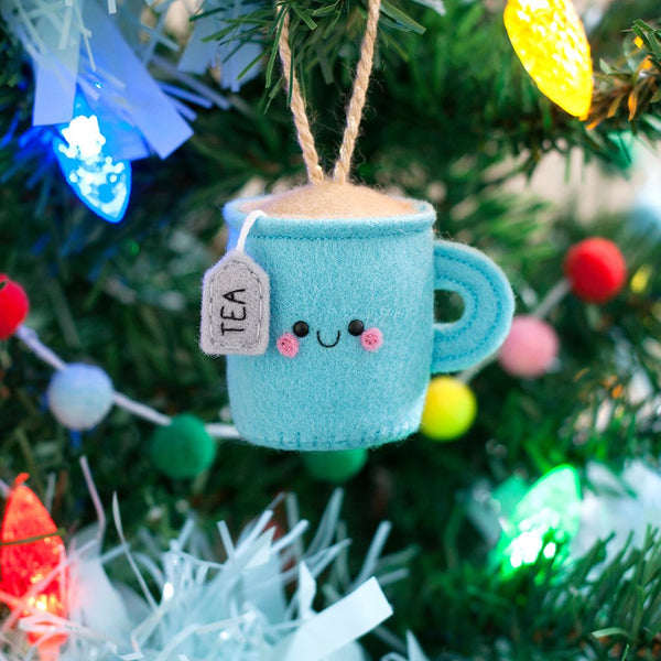 teacup christmas tree ornament