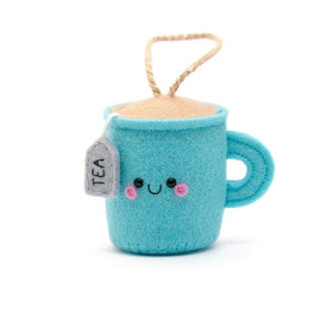 blue teacup felt ornament by hannahdoodle