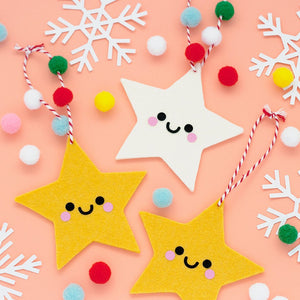 Stars Christmas tree Ornaments by hannahdoodle