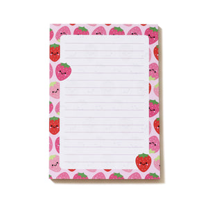 Strawberries Notepad, A6