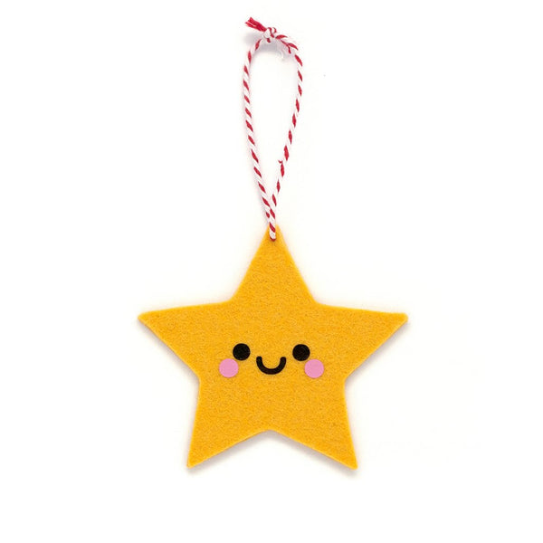 kawaii yellow star ornament