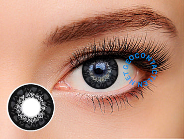 Geo Mimi Cappuccino Grey 15mm (Cafe Series) WMM-500 - Geo Contact Lens