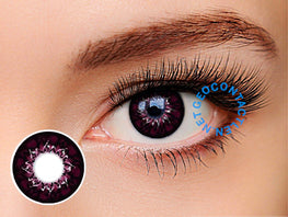 Geo Mimi Cappuccino Red 15mm (Cafe Series) WMM-700 - Geo Contact Lens