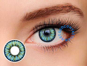 Geo Nudy Golden Blue Lens CH-932 - Geo Contact Lens