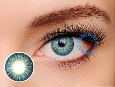 Geo Tri Color Blue Lens (Berry Berry Chessy) CM-904 - Geo Contact Lens