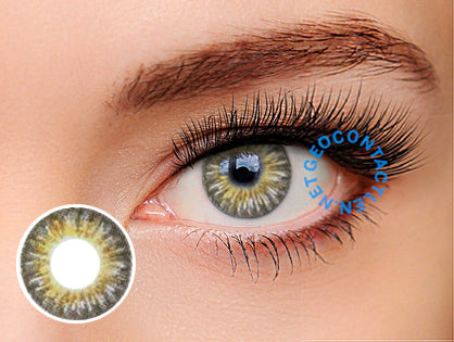 Geo Tri Color Gray Lens (Berry Chessy) CM-901 - Geo Contact Lens