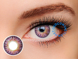 Geo Tri Color Violet Lens (Berry Berry Chessy) CM-905 - Geo Contact Lens