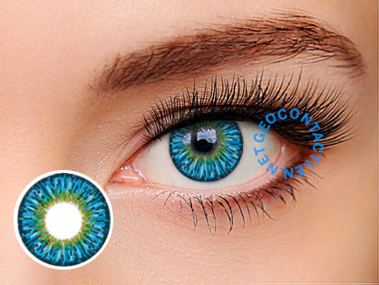 Geo Twins Blue Lens YH301 - Geo Contact Lens