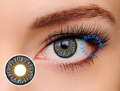 Geo Twins Gray Lens YH305 - Geo Contact Lens