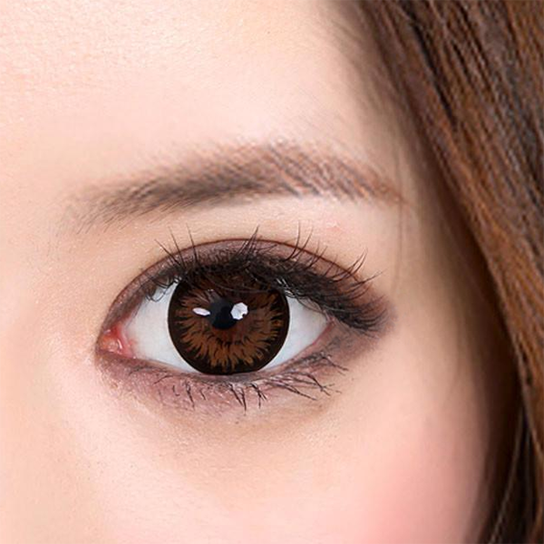 Geo Xtra Aster Brown Lens WT-C14 - Geo Contact Lens