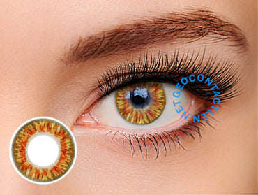 Geolica Euro Celine Brown FL-D36 - Geo Contact Lens