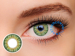 Geolica Euro Celine Green FL-D33 - Geo Contact Lens