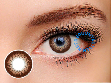 Geolica Euro Circle Dark Brown GO-A24 - Geo Contact Lens