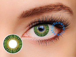 Geolica Euro Lady Lime Green GS-A13 - Geo Contact Lens
